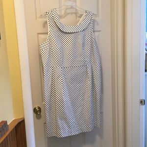 Worn once Lands End Black and White Dress
